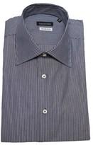 Valentino Men's Slim Fit Cotton Dress Shirt Pinstripe-grey-white.