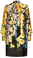Gucci Floral Bow Satin Dress
