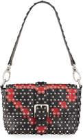 RED Valentino Heart-Shaped Studded Shoulder Bag