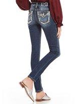 Miss Me Border Stitched Flap Pocket Skinny Jeans