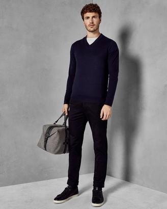 Ted Baker V Neck Wool Jumper