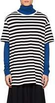 Yohji Yamamoto Men's Logo-Back Striped Cotton-Blend T-Shirt