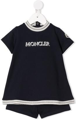 Moncler Enfant Logo Two-Piece Tracksuit Set
