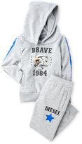 Diesel Infant Boys) Two-Piece Brave Hoodie & Sweatpants Set