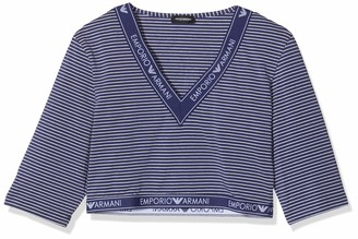 Emporio Armani Women's Visibility-Solid & Stripes T-Shirt