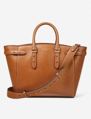 Aspinal of London Marylebone leather tote bag