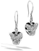 John Hardy Classic Chain Macan Diamond Earrings