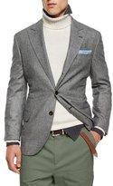 Brunello Cucinelli Plaid Two-Button Wool Sport Coat, Gray