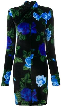 Richard Quinn Floral Print Fitted Dress