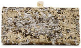 Jimmy Choo Celeste Sequined Canvas Clutch - Gold
