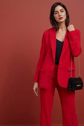 Next Womens Red Premium Suit Single Breasted Jacket - Red