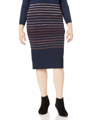 Rachel Roy Women's Plus Size Spac Dyed Stripe Skirt