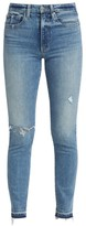Joe's Jeans Luna High-Rise Distressed Cigarette Ankle Jeans