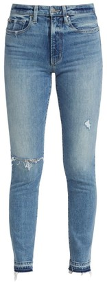 Joe's Jeans The Luna High-Rise Distressed Cigarette Ankle Jeans