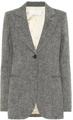 Victoria Beckham Donegal tweed blazer