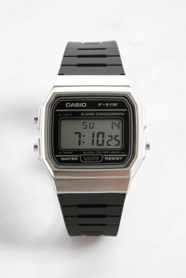 Casio F91W Digital Watch - Black ALL at Urban Outfitters