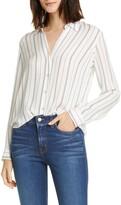 L'Agence Nina Stripe Silk Blouse