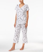 Charter Club Petite Loop-Trimmed Top and Cropped Pants Pajama Set, Only at Macy's