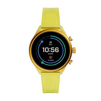 Fossil Sport Heart Rate Metal and Silicone Touchscreen Smartwatch