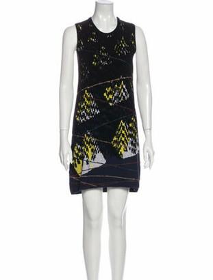 Kenzo Patterned Mini Dress Blue