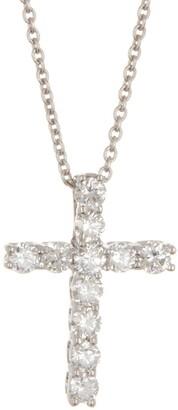 Ron Hami 14K White Gold Diamond Cross Necklace - 0.32 ctw