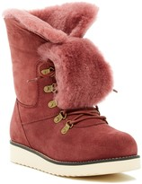 Australia Luxe Collective Yael Hidden Wedge Foldover Genuine Shearling Boot
