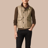 Burberry Multi-pocket Diamond Quilted Gilet
