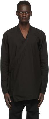 Julius Black Canvas Wrap Shirt