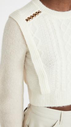 Self-Portrait Contrast Color Knit Sweater