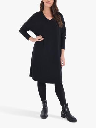 Live Unlimited Curve Knee Length Sweat Dress, Black