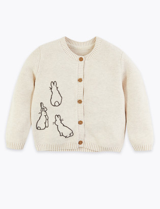 Marks and Spencer Cotton Peter Rabbit Cardigan (7lbs-36 Mths)