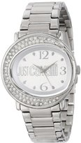 Just Cavalli Women's R7253186515 Lac Stainless Steel Silver Dial Swarovski Crystal Watch