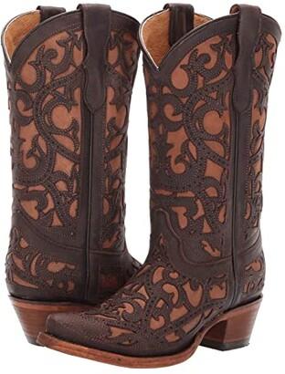 Corral Boots Kids E1302 (Little Kid/Big Kid) (Brown) Cowboy Boots