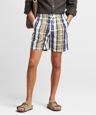 "Todd Snyder 7"" Madras Weekend Short in White"