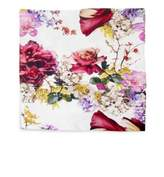 Roberto Cavalli Floris Printed Cotton Sateen Flat Sheet
