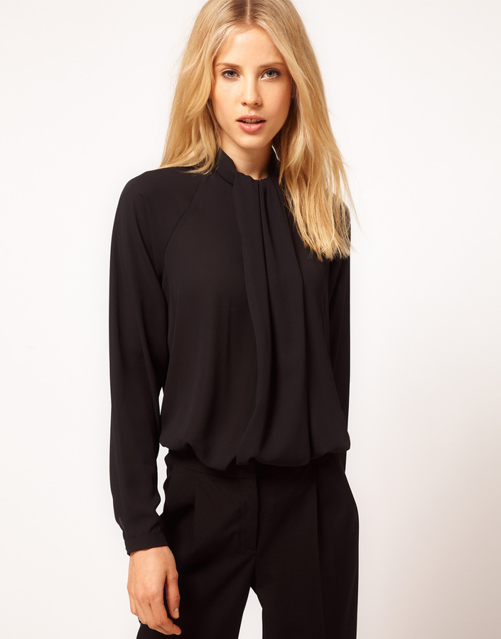 Asos Blouse With Gathered Neck
