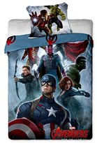 Marvel Avengers Captain America Single Duvet Cover Set 100% Cotton By BestTrend