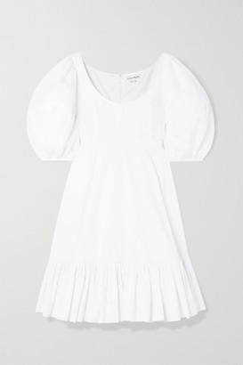 Alexander McQueen Tiered Cotton-poplin Dress - White