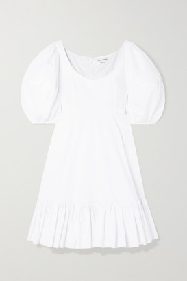 Alexander McQueen Tiered Cotton-poplin Dress - White