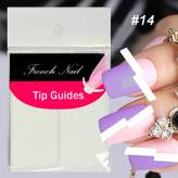 Fashiongallery Nail Sticker/lot DIY French Manicure Nail Art Decorations Round Form Fringe Guides Nail Sticker 18 style choost