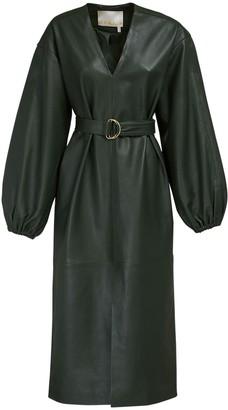 Remain Vivian Leather Dress W/ Belt