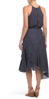 Juniors Dot Halter Midi Dress