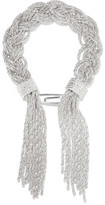 Aurelie Bidermann Miki Braided Silver-plated Bracelet - one size