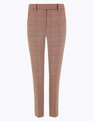 Marks and Spencer Mia Slim Checked Ankle Grazer Trousers