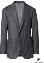 Banana Republic Standard Monogram Charcoal Pinstripe Italian Wool Suit Jacket