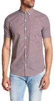 Topman Gingham Short Sleeve Shirt
