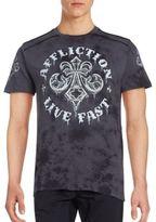 Affliction Royale Rust Cotton T-Shirt