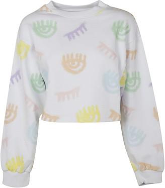 Chiara Ferragni Eye Motif Cropped Sweatshirt
