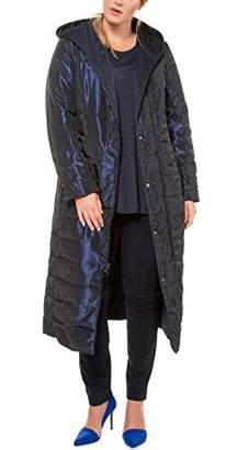 Ulla Popken Women's Wende-Steppmantel, Kapuze, Selection Coat,UK 16