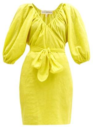 Mara Hoffman Coletto Organic-cotton-blend Wrap Dress - Yellow